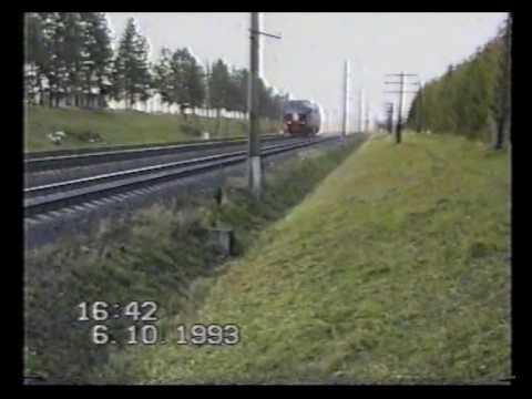 ТЭП80 вид со стороны при скорости 253км ч