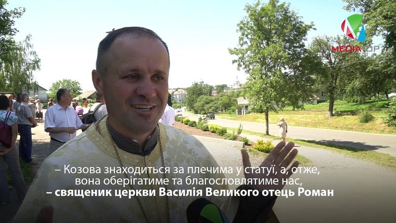 При в'їзді у Козову встановили 10-метрову фігуру Ісуса Христа