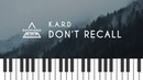 K.A.R.D - Don't Recall Piano Cover