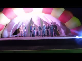 Выступление моей Эсрадной студии под САЛЮТ!!!(Коля,Миша,Катя,Анатолий и вокальная группа