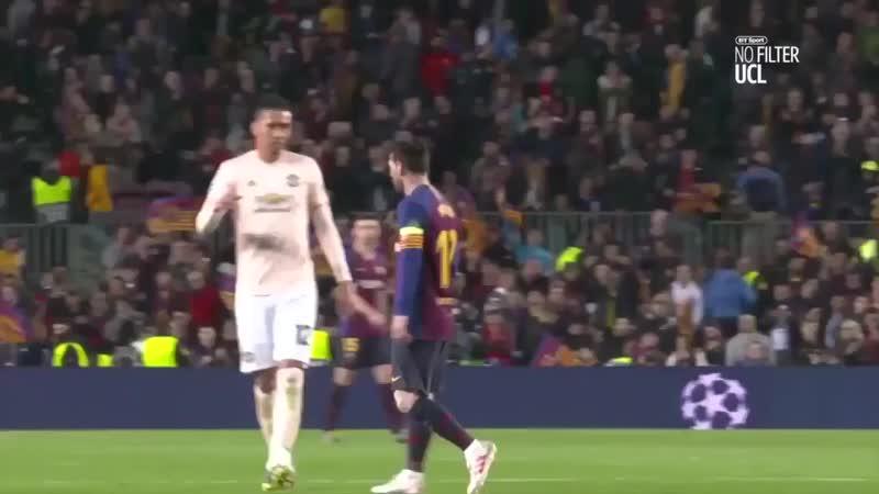Por outro ângulo Messi vs United