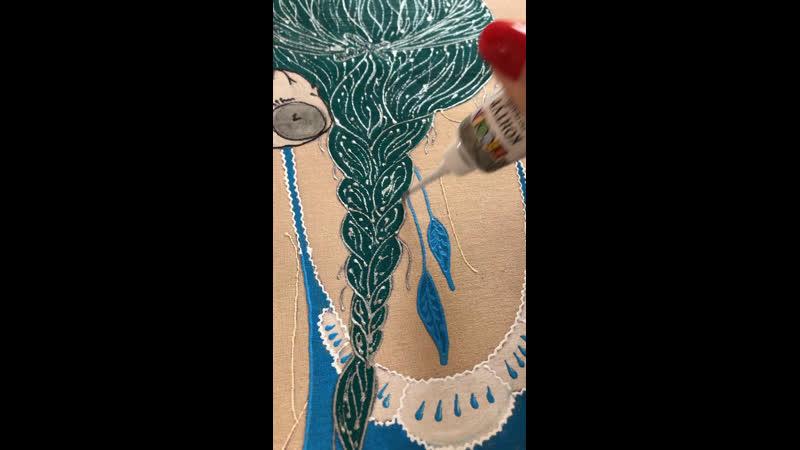 Контур акриловый для ткани