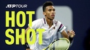 Hot Shot: Auger-Aliassime Goes Into Volleying Beast Mode At Miami 2019