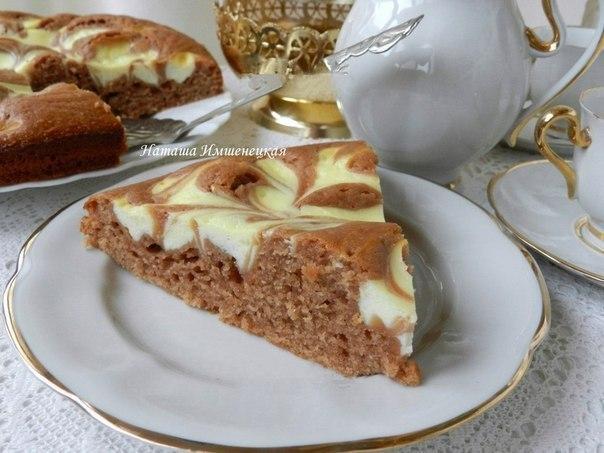 Готовим творожный пирог с какао!