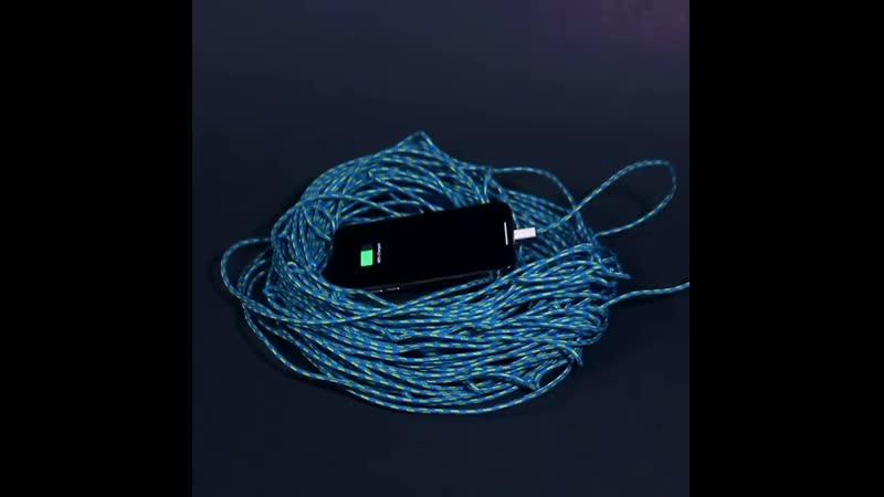 100 метровый кабель для зарядки телефона