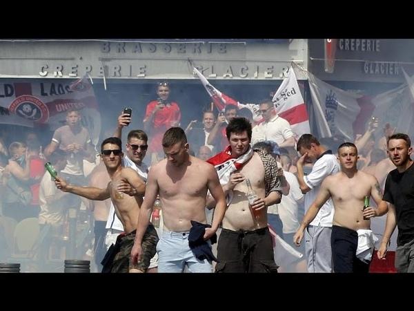 ДРАКА АНГЛИЯ РОССИЯ ЕВРО 2016 Марсель БЕСПОРЯДКИ ПОЛИЦИЯ футбол