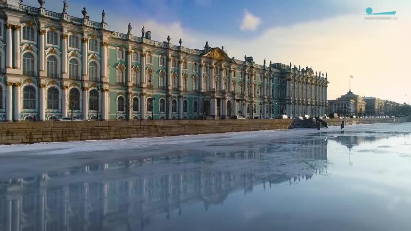 Ранняя весна в Петербурге. Нева. Эрмитаж. Адмиралтейство
