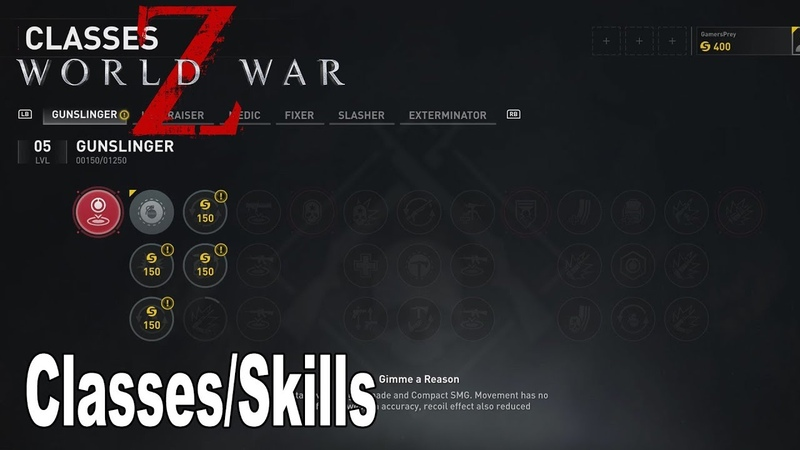 World War Z - All Classes and Skills Overview [HD 1080P]