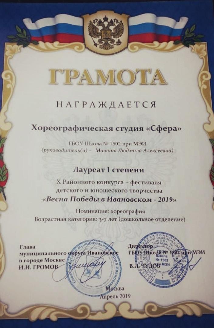 """Хореографическая студия """"Сфера"""""""