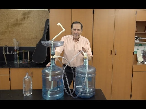Water Demonstrations part two Hero's Fountain Homemade Science with Bruce Yeany