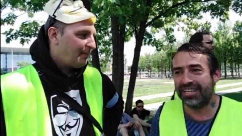 Reup: interview sven liebich 01062019 in berlin Gelbwesten Giletsjaunes Yellowvests