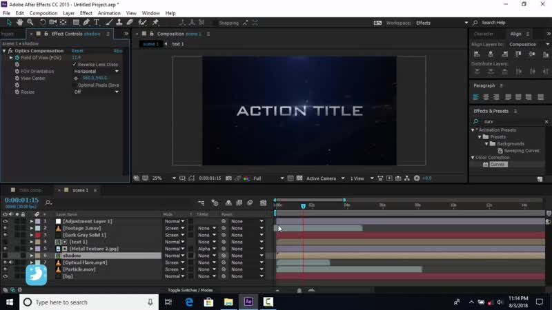 Cinematic Action Title in after effects _ After Effects Tutorials _ Effect for Y