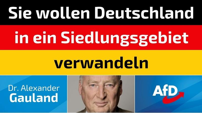 Alexander Gauland (AfD) - Sie wollen Deutschland in ein Siedlungsgebiet verwandeln