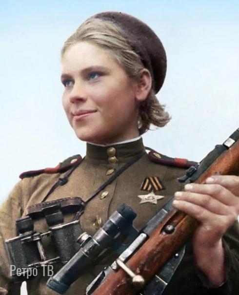 19-летняя советская девушка-снайпер Роза Шанина, на её счету записано 59 подтвержденных уничтоженных солдат противника 1945 годСпасибо за и