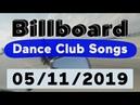 Billboard Top 50 Dance Club Songs (May 11, 2019)