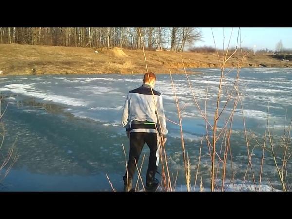 Провалился под лед! Большая подборка опасных прогулок на льду! Боги 80 уровня!