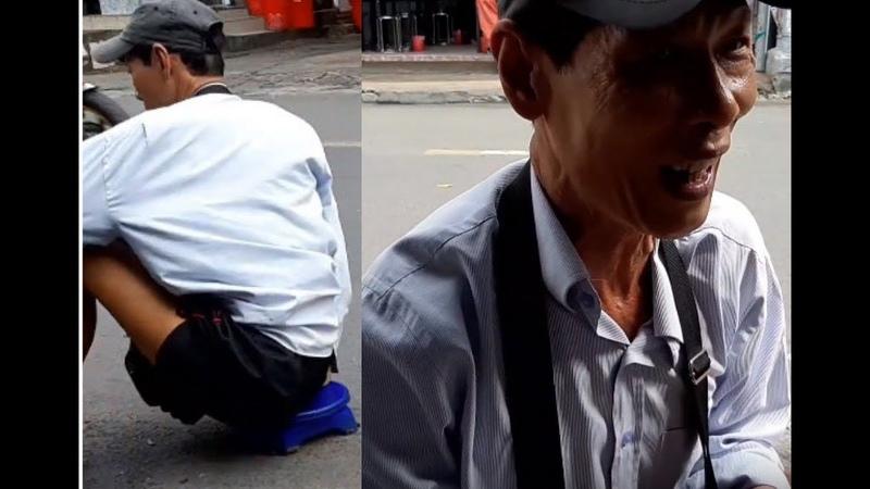 Ăn Hủ tiếu nam vang quận 10 và Bất ngờ gặp chú bán vé số 19 năm bị khuyết tật Nhưng vẫn yêu đời