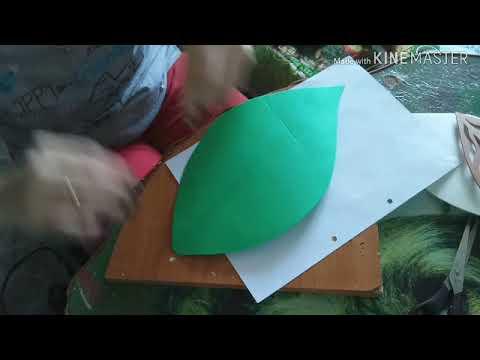Крепление проволки к листу и шаблоны ажурных листочков