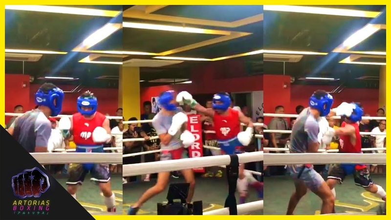 Manny Pacquiao Sparring for Keith Thurman (Short Clip) PacThurman