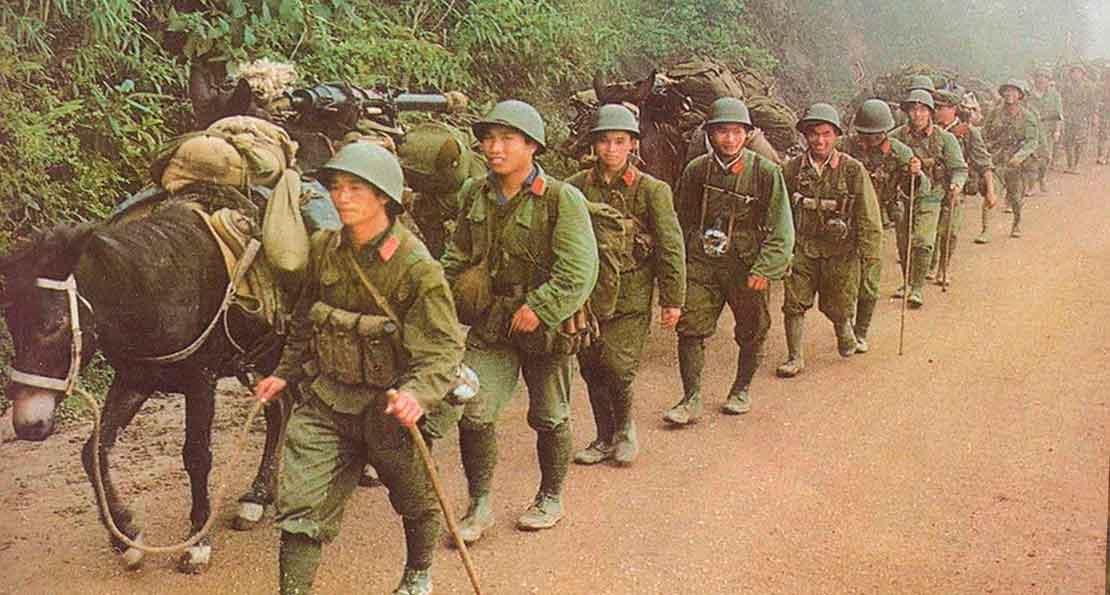 Китайская армия на марше