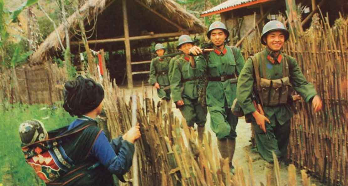 Солдаты НОАК в деревне