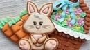 Intermediate Easter Cookie Decorating Tutorial for 2019 - Easter Bunny cookies