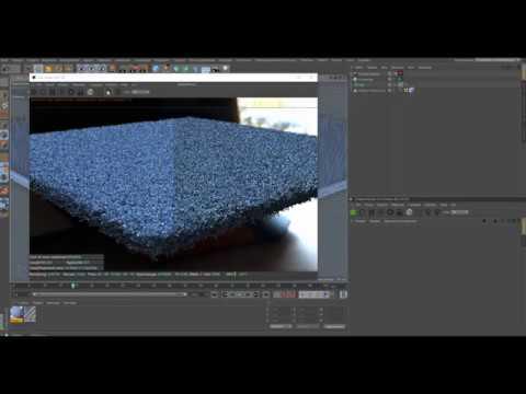 Моделирование реалистичного ковра с длинным ворсом - Cinema 4D, Octane Render