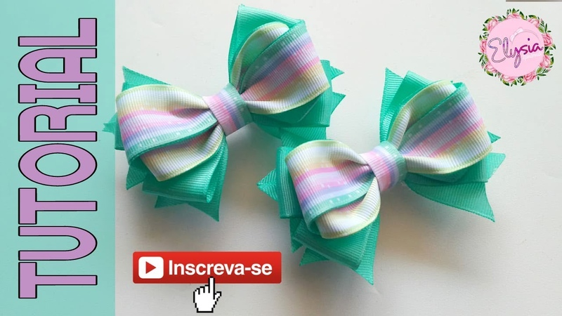 Laço Emely 2.2 cm 🎀 Ribbon Bow 🎀 DIY by Elysia Handmade