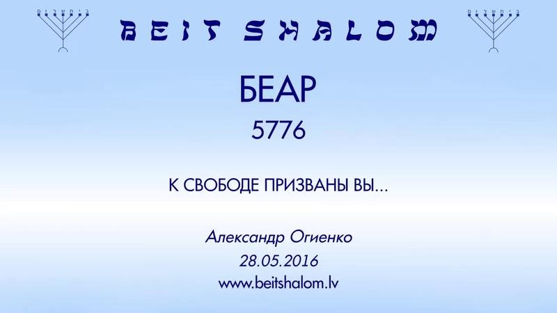 «БЕАР» 5776 «К СВОБОДЕ ПРИЗВАНЫ ВЫ...» А.Огиенко (28.05.2016)