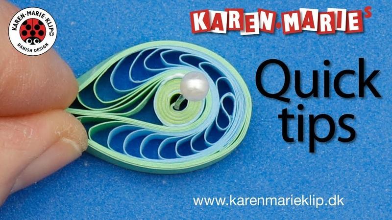 Quilling Comb Figure (Quick Tip) - Karen Marie Klip Papir
