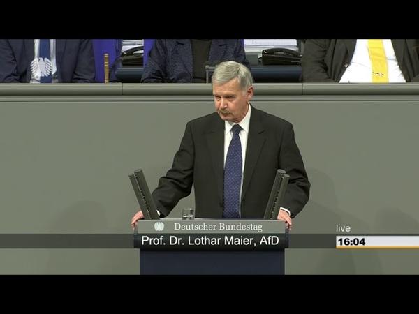 Prof. Dr. Lothar Maier (AfD) Verbrauchern vor unverhältnismäßigen Inkassoforderungen schützen.