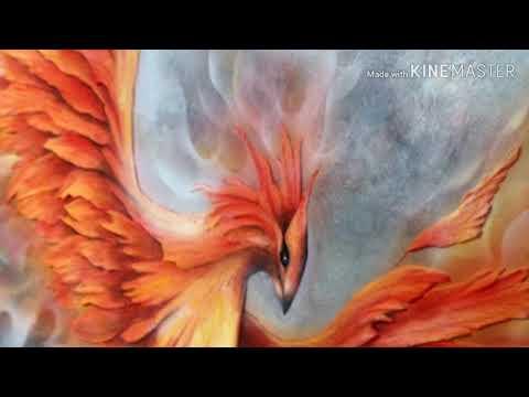 Феникс .огненный мир портала духов солца и огня