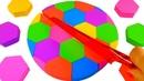 Учим цвета на английском Делаем Радужный Футбольный Мяч из Кинетического песка Игрушки для детей