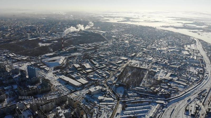 Город Самара с высоты птичьего полёта Russia