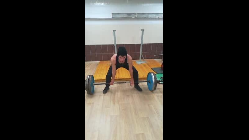 Становая тяга 130 на раз побил свой рекорд