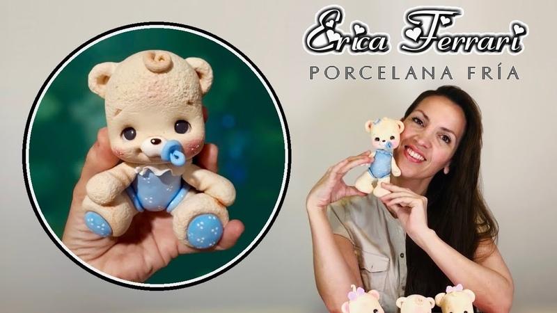 🐶 Erica Ferrari Porcelana Fría Osito Bebe Baby Bear Clase Gratis DIY Tutorial Fácil