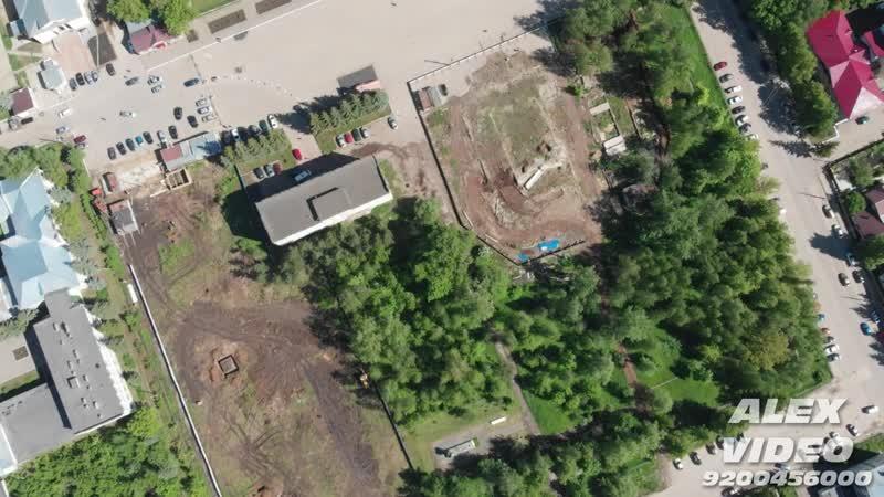 Начало застройки парка в городе Лукоянове