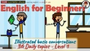 English for Beginners: Illustrated Basic Conversations | 36 Daily Topics - Level 1