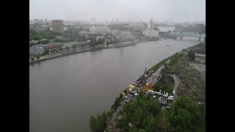 МОСГАЗ приступил к уникальным работам по реконструкции подводных газопроводов под Москвой-рекой. Дюкер Автозаводский