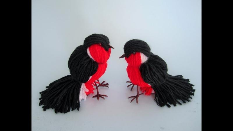 Bird made of yarn / Vogel aus Garn/ DIY