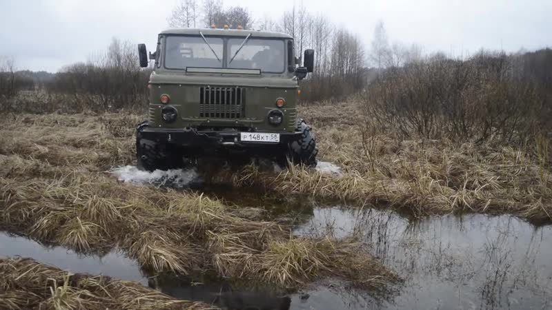Monster Trucks GAZ-66 made in USSR on Arched Tires