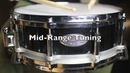 Pearl Maple Shell Free Floater Snare Drum Black Lacquer 5x14