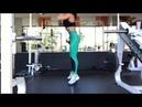 Присед прыжок с резинкой Jump squats with a resistance band