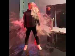 Armin van Buuren на съёмках нового клипа.