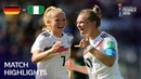 Германия— Нигерия (женский ЧМ-19 во Франции, 1/8 финала лучшие моменты)
