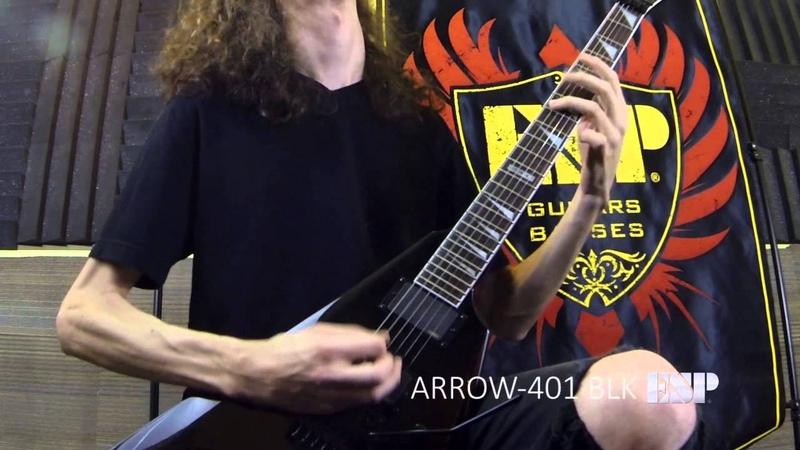 ESP Guitars LTD Arrow-401 Demo with Jack Fliegler