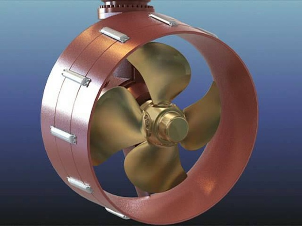 Принцип работы азимутального комплекса ASD Azimuth thruster animation