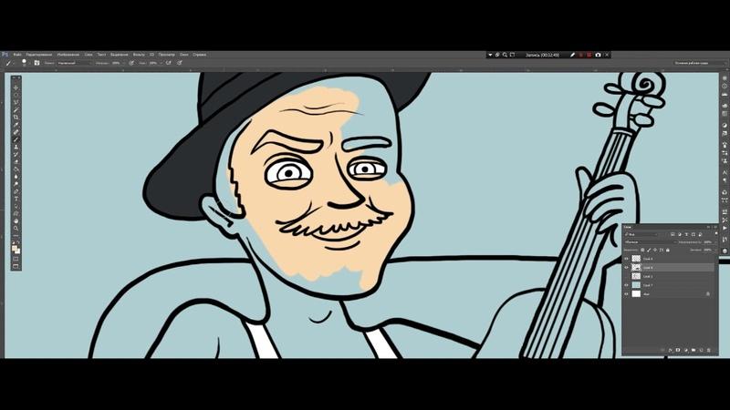КомикРок рисует рок Юрий Музыченко лидер группы The Hatters Шляпники
