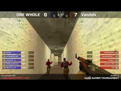 18 турнира по CS 1.6 от проекта Klan Gamer [ONE WHOLE -vs- Vandals] @ by kn1fe 1map