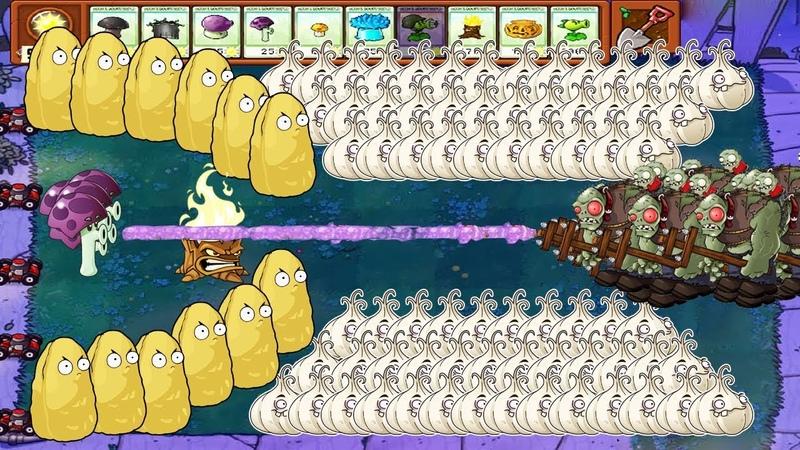 Plants vs Zombies Battlez Scaredy shroom vs Giga Gargantuar
